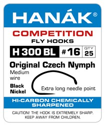 Bild von HANAK ORIGINAL CZECH NYMPH - BLACK NICKEL
