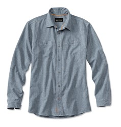 Bild von ORVIS TECH CHAMBRAY WORK SHIRT BLUE CHAMBRAY