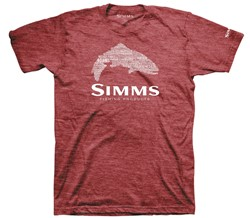 Immagine di SIMMS STACKED TYPO LOGO T-SHIRT RED HEATHER
