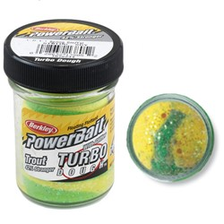 Image de BERKLEY TROUT BAIT TURBO DOUGH  SPRING GREEN/YELLOW