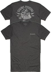Bild von SIMMS LIGHTNING BASS CHARCOAL HEATHER T-SHIRT