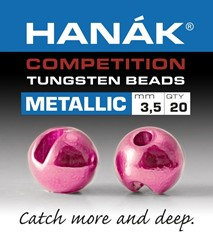 Bild von HANAK TUNGSTEN BEADS METALLIC + LIGHT PINK