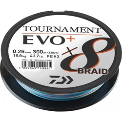 Bild von  DAIWA TOURNAMENT X8 BRAID EVO 300M MULTICOLOR