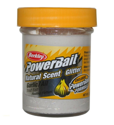 Bild von BERKLEY POWERBAIT GARLIC WHITE/NATURE GLITTER TROUT BAIT