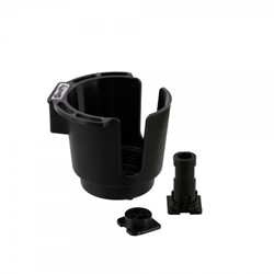 Image de SCOTTY BLACK CUP HOLDER WITH BULKHEAD / GUNNEL MOUNT AND ROD HOLDER POST MOUNT / GETRÄNKEHALTER