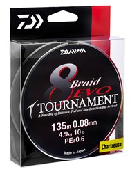Image de DAIWA TOURNAMENT 8 BRAID EVO CHARTREUSE 135m