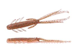 "Image de O.S.P. DOLIVE SHRIMP 3"" GREEN PUMPKIN RED / NATURAL ORANGE"