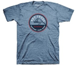 Image de SIMMS T-SHIRT BUY LOCAL LIGHT BLUE HEATHER